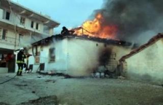 Fethiye'de Ev Yangını