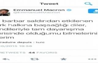 Fransa Ekonomi Bakanı Macron'dan Türkçe Tweet...