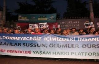 Galatasaray Meydanı'nda Barış Eylemi