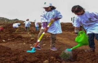 Gaziantep'te 3 Bin Fidan Toprakla Buluştu