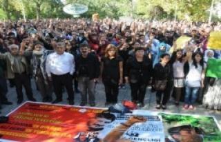 Ankara'daki Terör Saldırısına Protesto