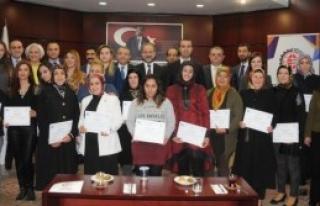 Gaziantep'te Girişimci Kadınlara Sertifika