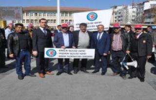 Gaziantep'te Kıdem Tazminatı Protestosu