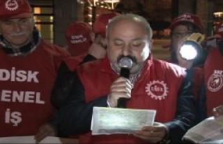 Genel-İş Sendikası Üyelerinden Kadıköy'de Eylem