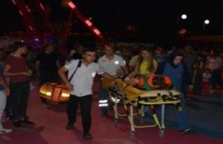 Gondoldan Düşen Genç Kız Yaralandı