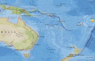 Güney Pasifik Okyanusu'nda Deprem