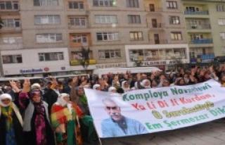 Hakkari'de Öcalan Protestosu