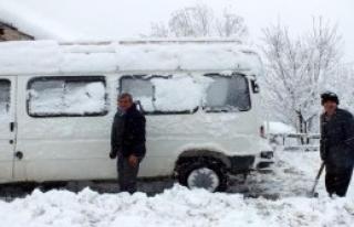 İnebolu'da Kar Ulaşımı Aksattı