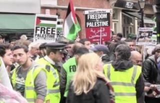 İsrail Londra'da Protesto Edildi