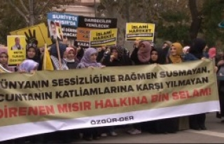 İstanbul'da Mursi'ye Destek Eylemi