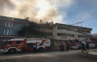 İvedik Organize Sanayi Bölgesi'nde Yangın