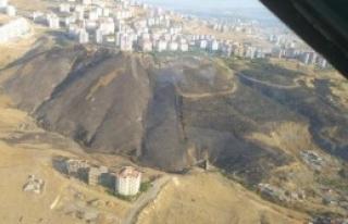 İzmir'de Makilik Yangını