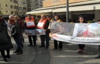 İzmir'de Suriyeliler İçin Eylem