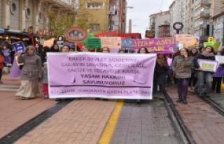 Kadınlar Şiddeti Protesto Etti