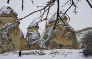 Kapadokya, Güne Kar ile Uyandı