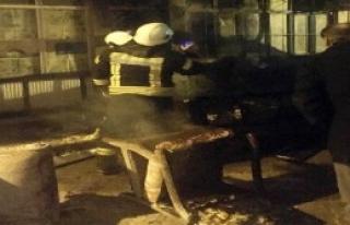 Yangın Ticari Araca Sıçradı