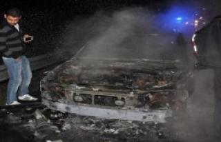 Lpg'li Otomobil Seyır Halindeyken Yandı