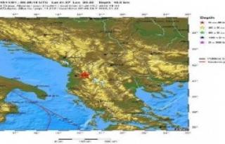 Makedonya Depremle Uyandı