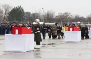 Şehit Pilotlara Malatya'da Tören