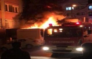 Maltepe'de Depoda Yangın