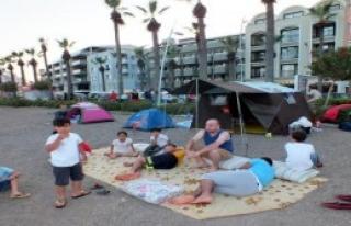 Marmaris Plajları Çadırkent Oldu