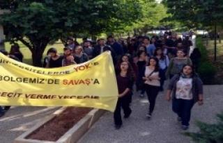 Mersin'de YÖK Protestosu