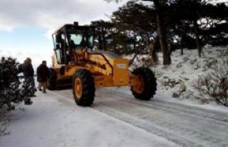 Milli Park'ın Karla Kapanan Yolunu Belediye Açtı
