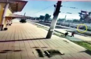 Tren Altında Kalma Anı Kamerada