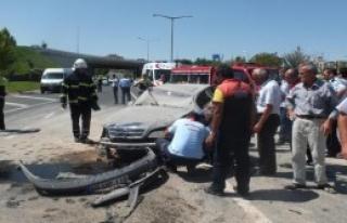 17 Yaşındaki Sürücü Yaralandı