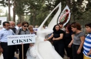 Özgecan'ın Mezarına Anıt Heykel Dikildi