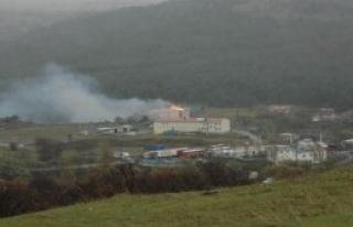 Posof'ta Jandarma Lojmanlarında Yangın