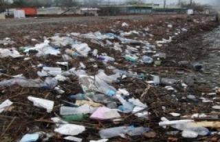 Rüzgar Denizdeki Çöpleri Kıyıya Taşıdı