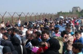 Sınırda Suriyeli Yoğunluğu