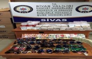 Sivas'ta Kaçakçılık Operasyonu