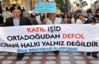 Sivas'ta Kobani Protestosu Gerginliği