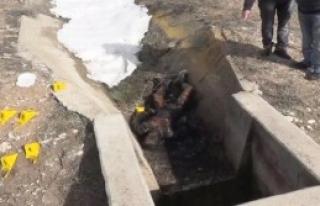 Su Kanalında Yakılmış Erkek Cesedi Bulundu