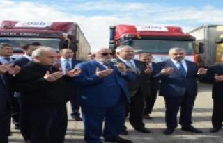 Türkmenlere 12 TIR'lık  Yardım Konvoyu