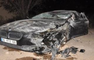 Takla Atan Otomobilin Sürücüsü Ağır Yaralandı