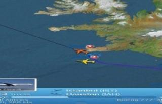 THY Uçağı İzlanda'ya İndi