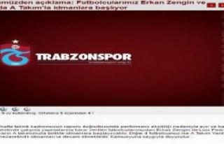 Trabzonspor'da Erkan ve Cavanda Affedildi