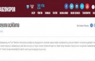Trabzonspor'dan 'skorbord' Açıklaması