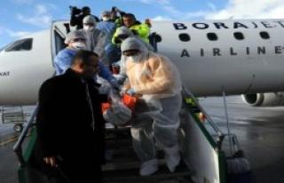Uçakta 'Ebola' Tatbikatı