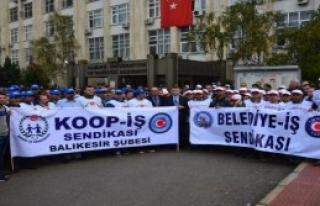 Uludağ Üniversitesi'nde Taşeron İşçi Eylemi