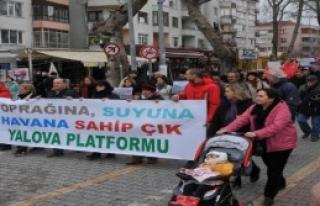 Yalova'da Taş Ocaklarına Tepki Yürüyüşü