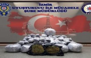 İzmir'de Esrar Operasyonu