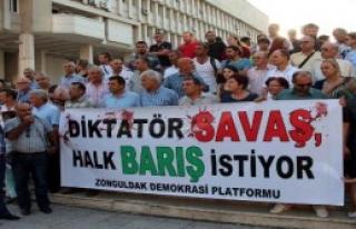 Zonguldak'ta Dünya Barış Günü Yürüyüşü