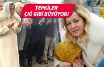 İYİ Partili vekilin şehit cenazesindeki hareketlerine sosyal medyada tepki!