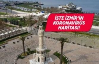 İzmir'in koronavirüs haritası