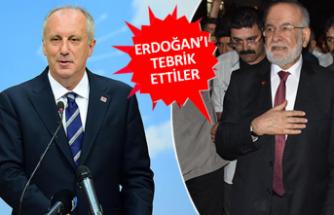 Muharrem İnce ve Temel Karamollaoğlu, Erdoğan'ı tebrik etti
