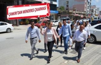 AK Partili Ceyda Bölünmez Çankırı, seçim sonrasında da ilçe ziyaretlerini sürdürüyor